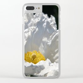 Poppy - White Clear iPhone Case