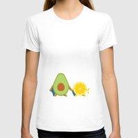 avocado T-shirts featuring Avocado & Lemon by Ororon