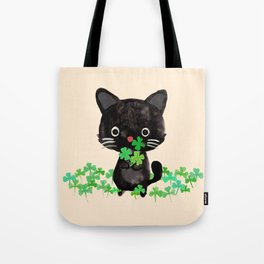 The Luckiest Cat Tote Bag