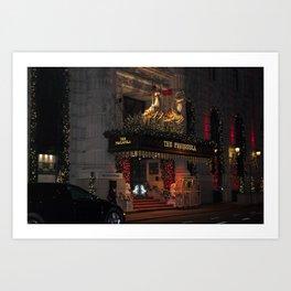 The Peninsula New York At Christmas Art Print