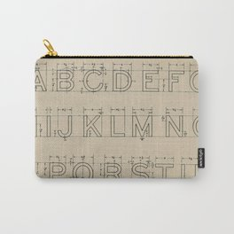 Vintage Block Font Carry-All Pouch