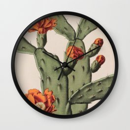 Botanical Cactus Wall Clock