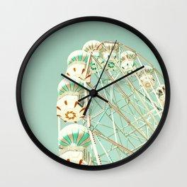 Soft Aqua Ferris Wheel  Wall Clock