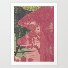 feeling pink on chapel street Art Print