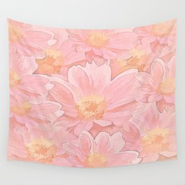 Pretty In Pink Painterly Floral Wall Tapestry