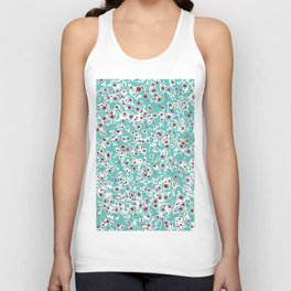 red wild dots Unisex Tank Top