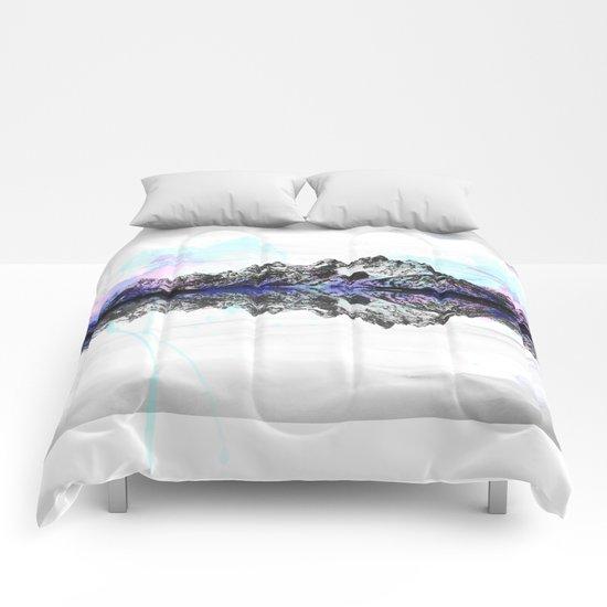 Watercolor Mountain Range Comforters