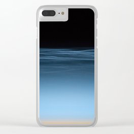 twilight shine on the horizon | space #17 Clear iPhone Case