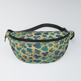 Gold and Marble Suits Pattern Digital Art Fanny Pack