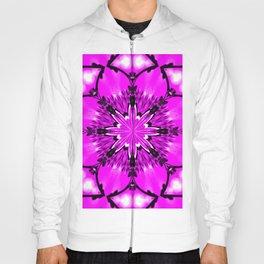Eastern Redbud And The Bee Kaleidoscope Neon Pink Hoody