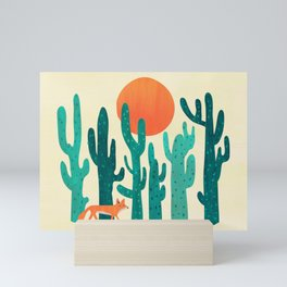 Desert fox Mini Art Print