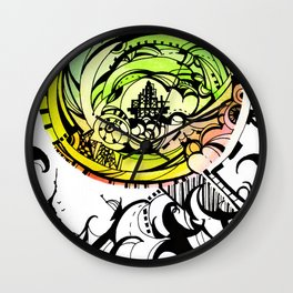Compass Journey Wall Clock