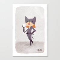 catwoman Canvas Prints featuring Catwoman by Popol