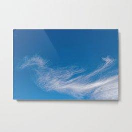Seahorse cloud formation Metal Print