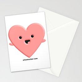 Lovely Heart Stationery Cards