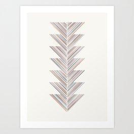 Herringbone Arrow - Navy Art Print