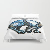hare Duvet Covers featuring Hare by Meredith Nolan