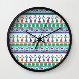 Turkish Dolls Ethnic Pattern Wall Clock