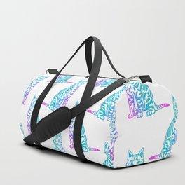 Rainbow Glitter Kitty Duffle Bag
