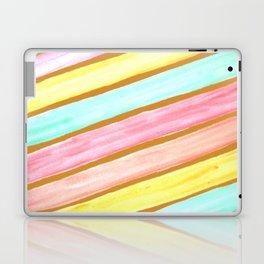 Retro Watercolor Stripes  Laptop & iPad Skin