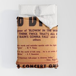 Vintage 1965 Waikiki Shell Hawaii Bob Dylan Concert Poster Comforters