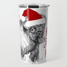 Christmas Buffalo Travel Mug