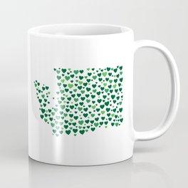 WA State Hearts - Evergreen Palette Coffee Mug