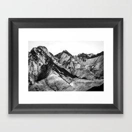 Black Dust on Solheimajokull Framed Art Print