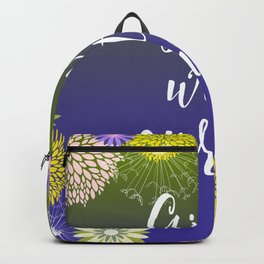 Feminine Girls With Curves Typography Backpack