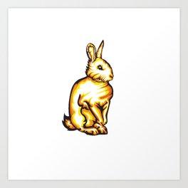 Angry Bunny Art Print