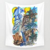 yosemite Wall Tapestries featuring Yosemite Impressions by Tonya Doughty