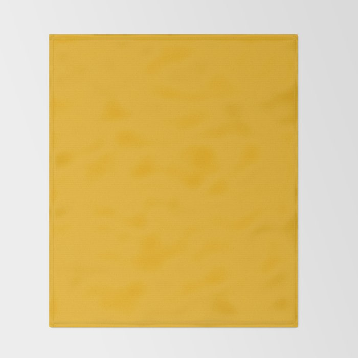 Spanish yellow - solid color Throw Blanket