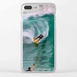 Backside Surfing at the Wedge Clear iPhone Case
