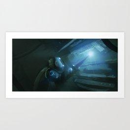 Stardrive maintenance Art Print