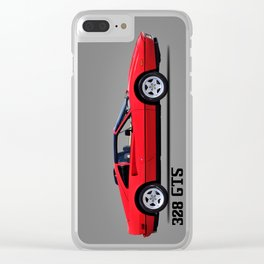 The 328 GTS 1987 Clear iPhone Case