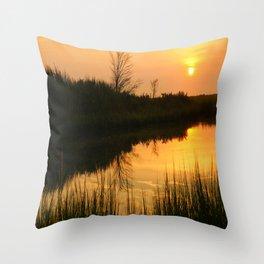 Sunset at the Bay (3) Throw Pillow