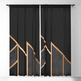 Black & Gold 035 Blackout Curtain