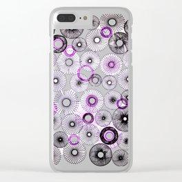 Purple and black multi spir Clear iPhone Case