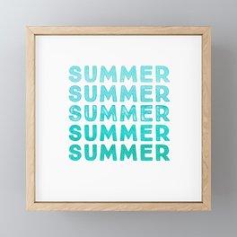 SUMMER - simply typography Framed Mini Art Print