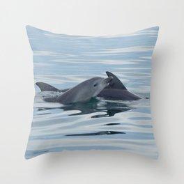 Baby Bottlenose Dolphin Throw Pillow