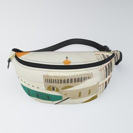 travel europe Italy shapes pisa tower Fanny Pack