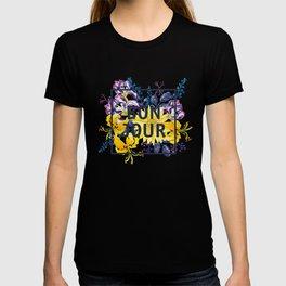 Bonjour floral print T-shirt