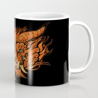 foo fighters Mugs featuring Foo Dog by missmonster