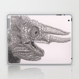 Happy Chameleon (pen and ink) Laptop & iPad Skin
