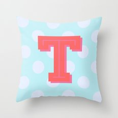 T is for Terrific Throw Pillow