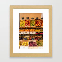 Groceries, Nice France Framed Art Print