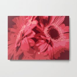 Red Gerberas Metal Print