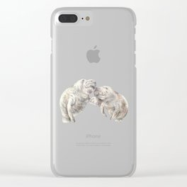 Manatees in love Clear iPhone Case