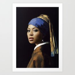 Bey with a Pearl Earring Art Print