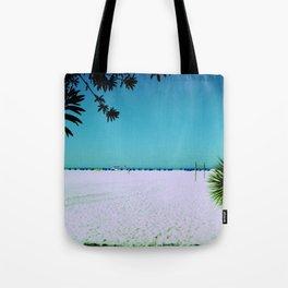 Tropical Beach Scene Photography Tote Bag